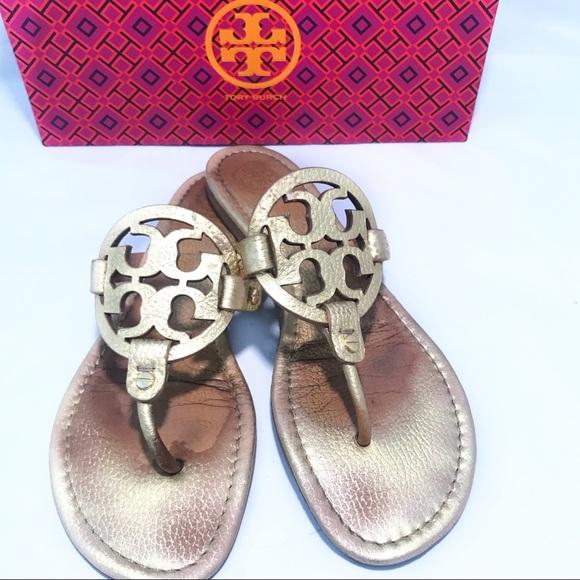 df4316cb6f97c tory burch miller sandals 10.5 gold. M 5b92041dc617774ac773138f